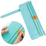 WENTS Mini cortador de papel A5 Hoja de papel portátil de 200 g con regla de...
