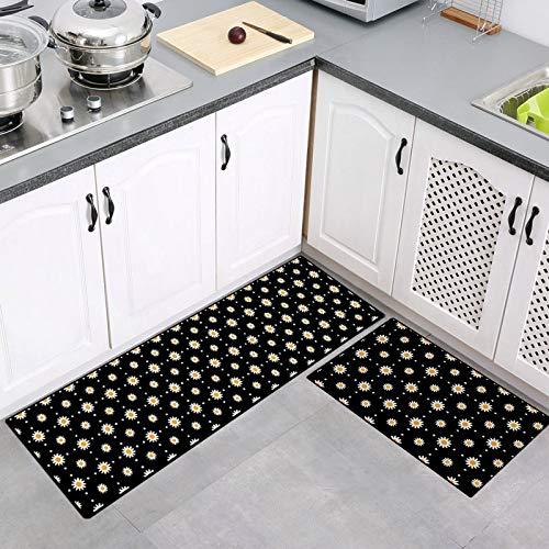 MMHJS European-Style Kitchen Long Strip Floor Mat Carpet Bathroom Absorbent Floor Mat Waterproof And Oil-Proof Floor Mat Kitchen Hallway Banquet Hotel Restaurant Carpet