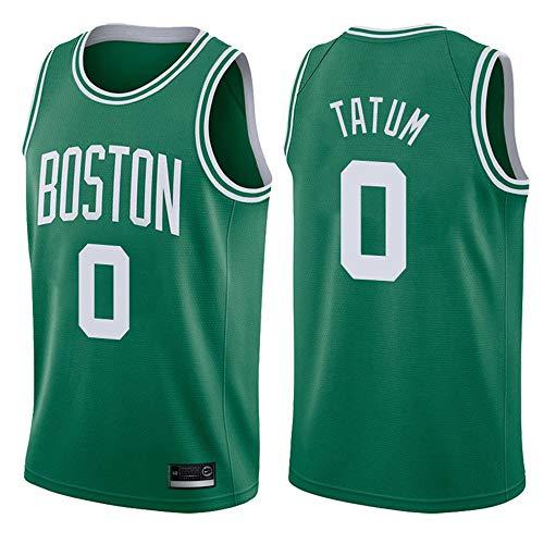 XSJY Herren-Basketball-Trikots, NBA Boston Celtics # 0 Jayson Tatum Basketball Kleidung Gestickte Mesh-Basketball Swingman Jersey Sport Tops,B,XXL:185~190cm/95~110kg