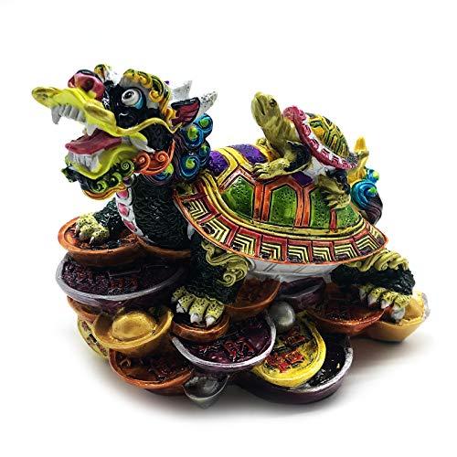 Chinese Feng Shui Dragon Turtle Statue Feng Shui Decor...