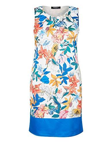 Bexleys Woman by Adler Mode Damen Kleid mit floralem Druck weiß/blau/rot/orange/grün 44