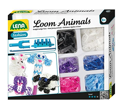 Lena 42436 - Loom Animals für 3 Tierfiguren und 1 Stift- Topper