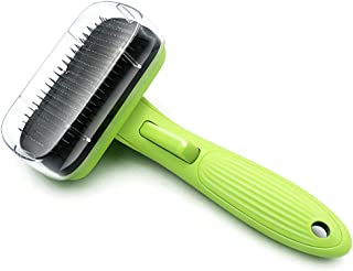 ALLYAOFA Pet Grooming Brush, Self Cleaning Slicker Dog Brushes Cat Brushes, for Grooming Removes Loose Hair and Dead Fur E...