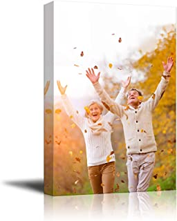 NWT Custom Canvas Prints with Your Photos for Family, Personalized Canvas Pictures for Wall to Print Framed 20x16 inches