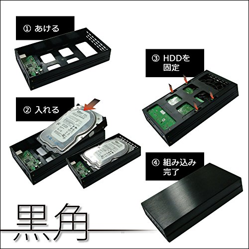 Owltech(オウルテック)『3.5インチHDD対応外付けケース「黒角」(OWL-ESL35U3S2-BK)』