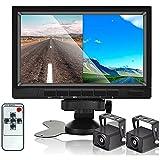Hikity Auto Backup Sistema di telecamere Specchio retrovisore Con Funzione DVR 1080P HD Monitor a 7 pollici Impermeabile Visione notturna Macchina fotografica posteriore di Veiw Per Camion RV Bus