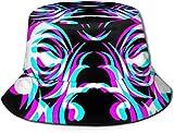Bernice Winifred Sombreros de Cubo Transpirables con Parte Superior Plana Unisex Sombrero de Cubo de Paisley del Siglo XXI Sombrero de Pescador de...