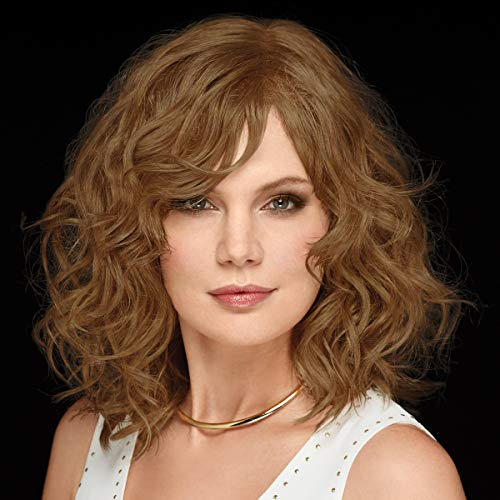 Sheer Drama Hand-Tied WhisperLite Wig by Paula Young - Beachy, Long Bob Wig with Shoulder-Length, Wavy Layers Of Tousled Curls/Multi-tonal Shades of Blonde, Silver, Brown, and Red