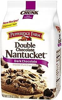 Pepperidge Farm, Double Chocolate Nantucket, Dark Chocolate, Chocolate Chunk Crispy Cookies, 220 g [Pack of 1 piece]