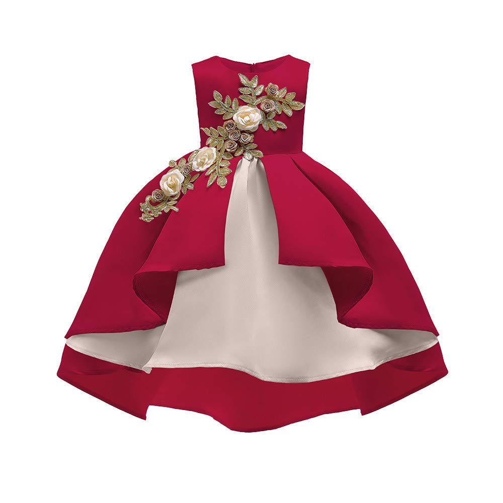 Clothful Baby Girl's Floral Princess Bridesmaid Pageant Gown ...