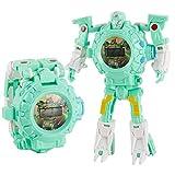 AKlamater Kinder-Armbanduhr, Roboteruhr, multifunktional, Projektion für Jungen und Mädchen, Geschenk (grün)