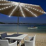 Wuudi, luci a LED per ombrellone con telecomando a 8 modalità, luci per ombrellone, luci da giardino, illuminazione da esterni, per barbecue, campeggio, ombrelli