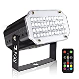 Strobe Light with Remote, JLPOW Sound Activated Halloween Mini Strobe Lights, Super Bright 48 RGB LED, Remote Control Flash Stage Lighting, Best for DJ Party Show Club Disco Karaoke