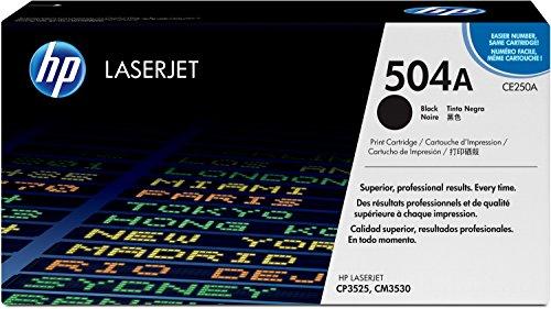 HP 504A (CE250A) Schwarz Original Toner für HP Color Laserjet CP3525, HP Color Laserjet CM3530