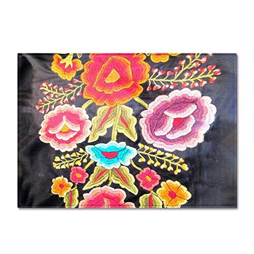 Alfombra,Vintage Terciopelo Memoria Espuma Blooming Flor Impresa Shaggy Rug Esponjoso Al Lado De La Cama De Piso Caliente Alfombra De Madera Sintética Interior Al Aire Libre Niños Juegan A