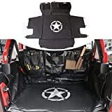Sukemichi Dog Seat Covers for Jeep, Pet Cargo Trunk Liner Mat Cover for 2007-2020 Jeep Wrangler JK JL 4 Doors, Scratch-Resistant, Non-Slip, Waterproof, Easy to Clean Oxford