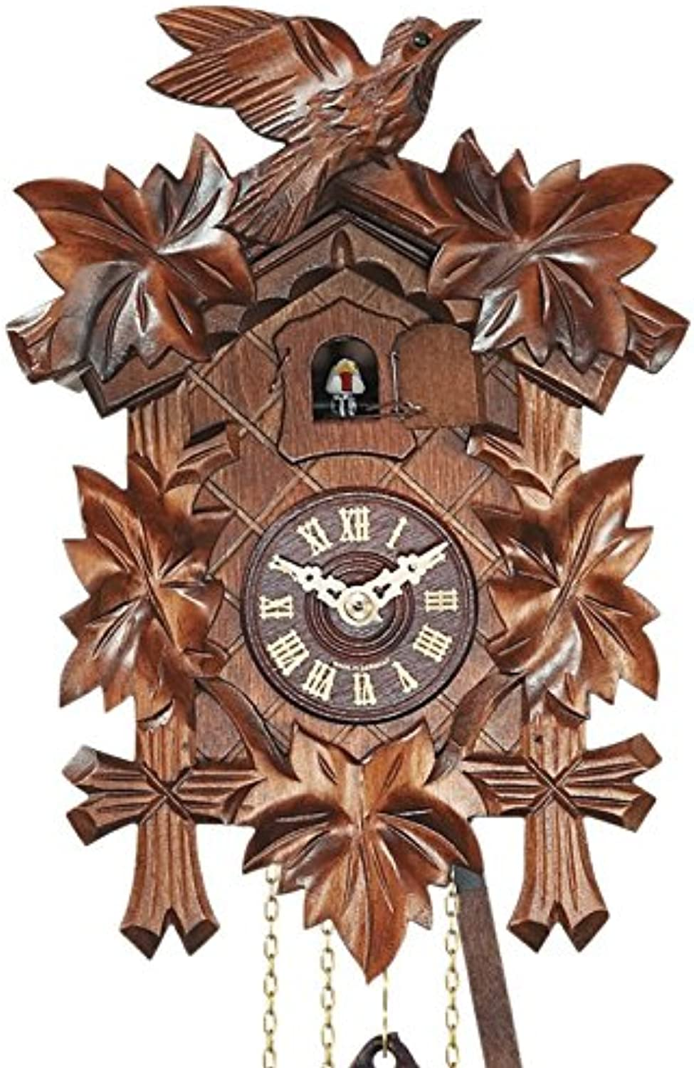 Quartz Cuckoo Clock 5-leaves, bird EN 522 Q