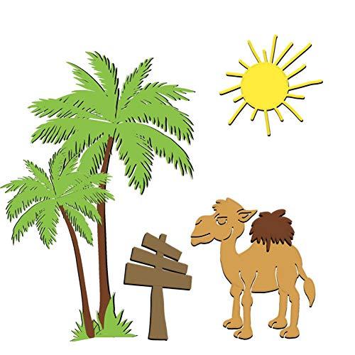 YQCZ Schneidform Kamel Tier Stirbt Baum Metall Stanzformen Für Kartenherstellung Scrapbooking Dekorative Prägung DIY Handwerk Gestanzte Schablone