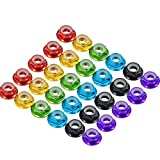 30pcs FPV M5 Nuts CW Self-Locking Lock Nuts Flanged Nylon Insert Aluminum Alloy for FPV Parts Quadcopter Motor Prop Adapter RC Racing Drone (6 Colors)