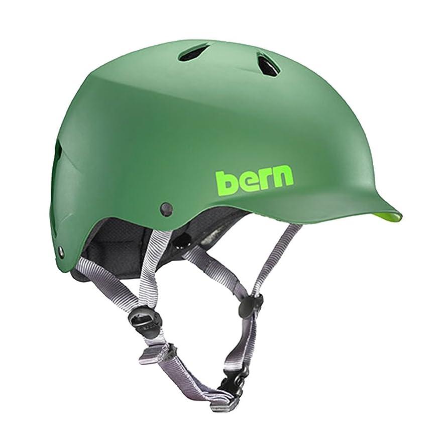 再生可能政策配送ヘルメット 大人用 メンズ bern オールラウンドタイプ watts(ワッツ) xxxl リーフグリーン