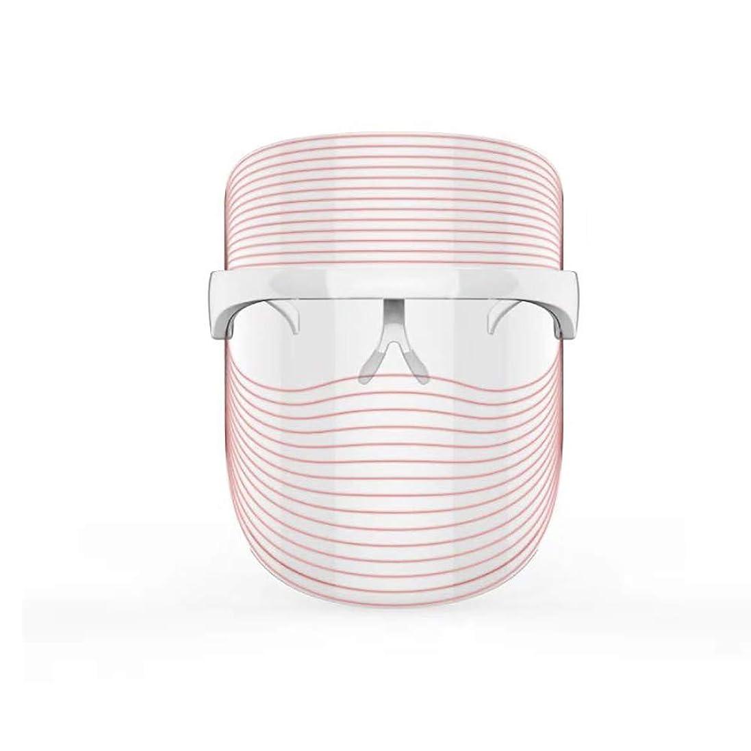 スクラップ良心ブル3色LEDマスクフェイス&ネックネオン白熱LEDフェイスマスク電動フェイシャルスキンケアフェイススキンビューティー