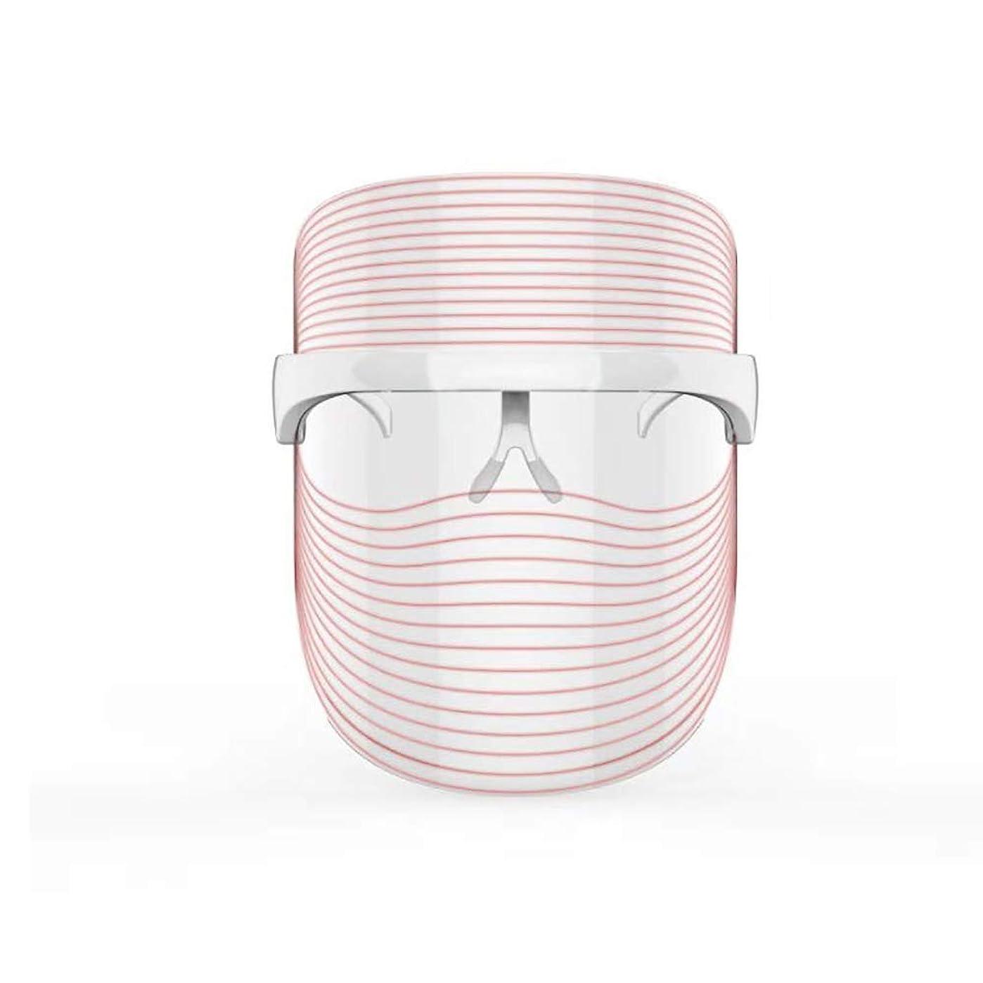 地上のパイプ古い3色LEDマスクフェイス&ネックネオン白熱LEDフェイスマスク電動フェイシャルスキンケアフェイススキンビューティー
