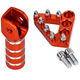 Pedale freno posteriore CNC Piastra + cambio leva del cambio Leva punta per K-T-M 125-530 SX EXC XCF XC XCW SXF SMR 2004-2010 Enduro Supermotor 690 DUKE Adventures Orange
