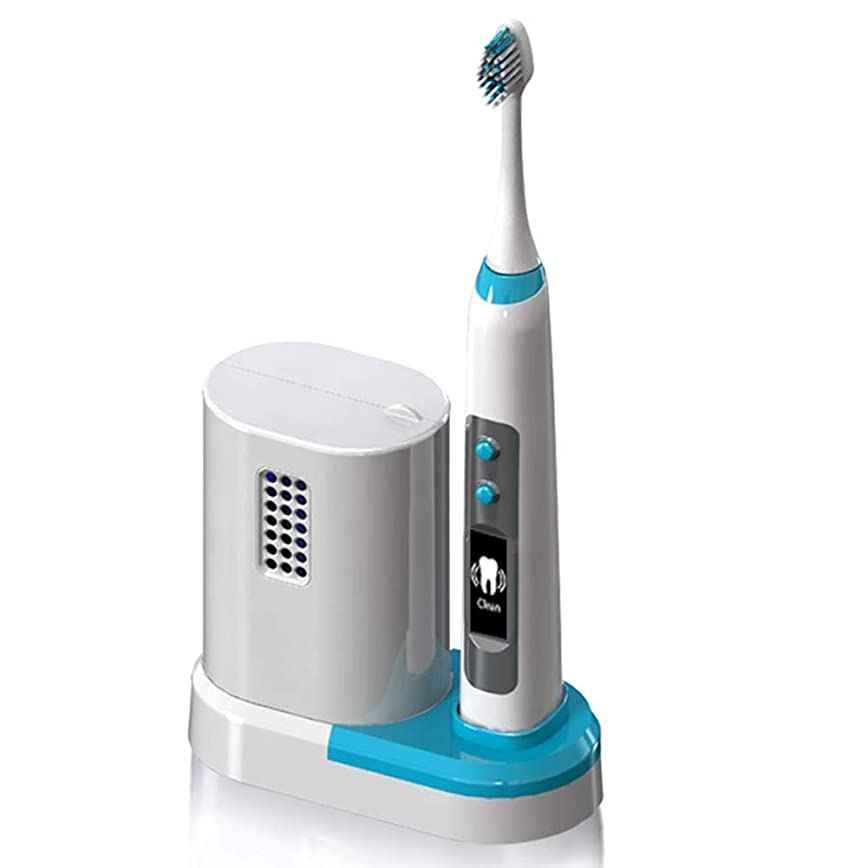 ライムに同意する虚偽ワイヤレス誘導充電式電動歯ブラシ、音波粉砕技術、DuPontソフトブラシ素材、ボディ防水処理、UV消毒倉庫