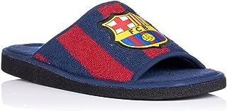 FC Barcelona - Scarpe da ginnastica in spugna, bicolore aperte, da uomo, per l'inverno, l'autunno