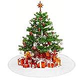 TDCQ Falda de Árbol de Navidad,Decoración del árbol de navidadPie de Árbol de Navidad,Pies de Árbol de Navidad,Blanco Falda del árbol de Navidad,Felpa Base de Árbol de Navidad
