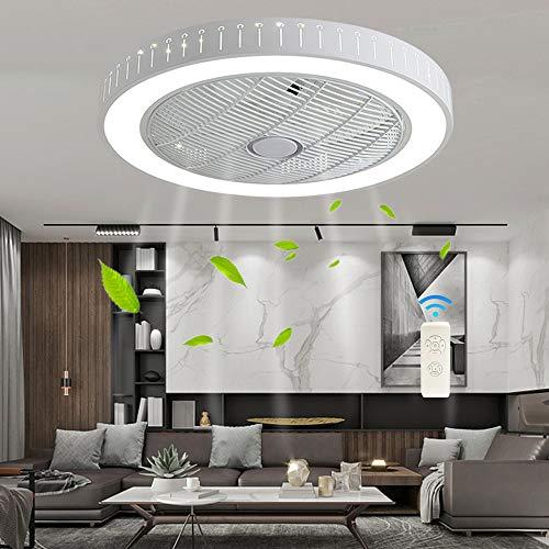 HYQJUNE Ventilador De Techo LED con Iluminación Ventilador Silencioso Luz De Techo Gotas De Agua Lámpara Regulable con Control Remoto Lámpara De Ventilador Moderna De 36W para Habitación De Niños