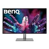 BenQ PD3220U - Monitor Profesional para Diseñadores de 31.5' 4K UHD (3840x2160, Thunderbolt 3, IPS, Display P3, CAD/CAM, Hotkey Puk, Daisy Chain, HDMI, DP, USB-C, Altura ajustable) - Negro /Gris