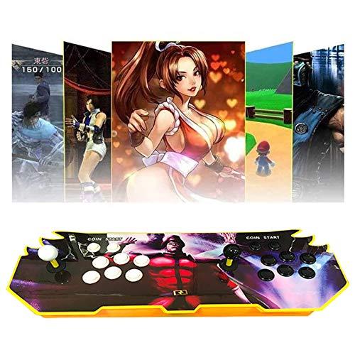 TANCEQI 3D Pandora's Box Máquina De Vídeo Clásica Game Console, Multijugador Arcade Game Console, 2 Joystick Partes De La Fuente De Alimentación HDMI Y VGA Y Salida USB