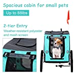 PawHut Folding Dog Bike Trailer Pet Cart Carrier for Bicycle Travel in Steel Frame - Green & Grey 14