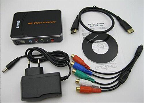 Neueste HD-Videoaufnahme EZCAP 1080P-Spielaufnahme HDMI YPbPr-Recorder-Box auf USB-Stick mit Bearbeitungssoftware für XBOX One / 360 PS3
