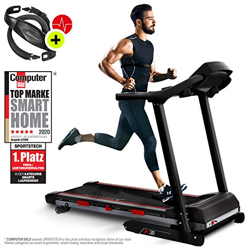 Sportstech F31 Professional Treadmill With Smartphone App Control MP3...