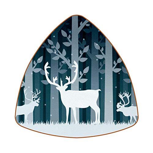 Snow Caribou Set mit 6 Untersetzern für Getränke, Tasse, Flasche, Tasse, Kaffee, Bier