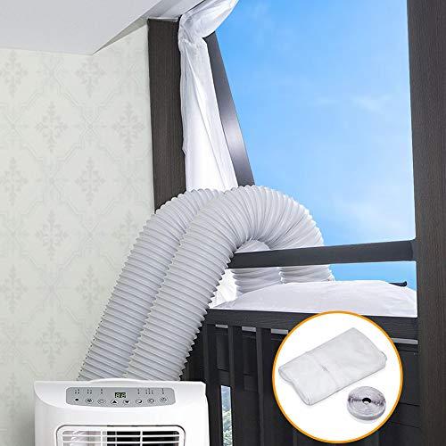 Lyeiaa Fensterabdichtung für Mobile Klimageräte, Klimaanlagen, Wäschetrockner, Ablufttrockner zum Anbringen an Fenster, Dachfenster, Flügelfenster/Fensterabdichtung Klimaanlage - 400cm