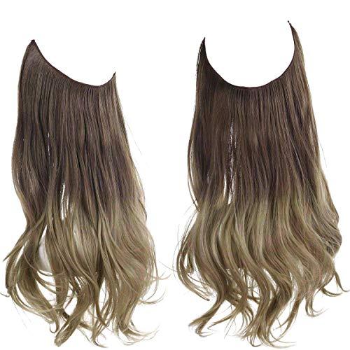 SARLA Natural Curly Wavy Halo Hair Extension