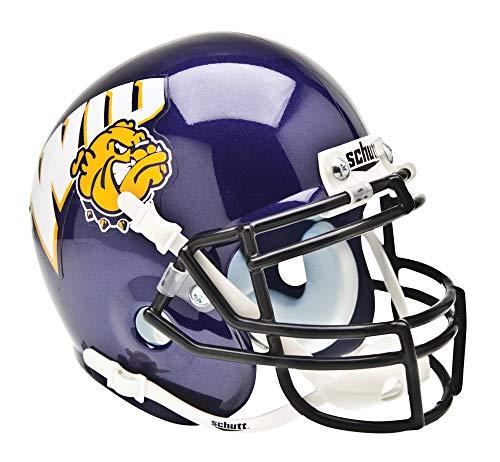 Schutt NCAA Western Illinois Leathernecks Mini Authentic XP Football Helmet, Classic