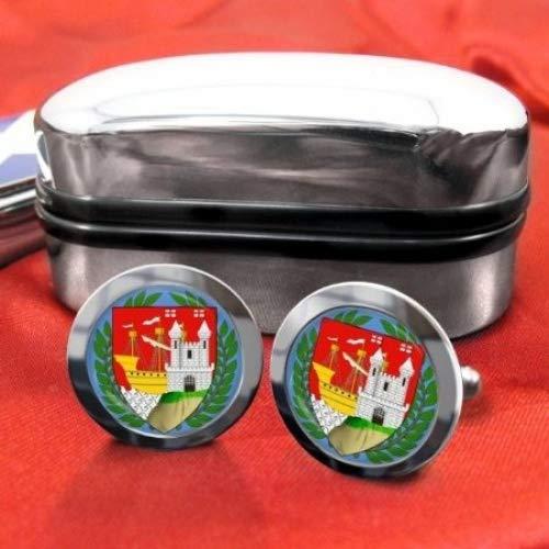 Gloucesteshire comté de Cricket homme en Chrome Boutons de manchette avec coffret cadeau