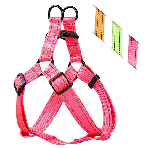 Heavy Duty Quick-Fit Step-in Harness Comfortable, Adjustable Lightweight Breathable and Easy Walker for Small Medium Large Dogs (S (Width:1/2