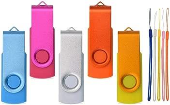 64MB USB Flash Drive - 5 Pack USB 2.0 Memory Sticks - Kepmem Small Capacity Thumb Drive with Colorful Ropes