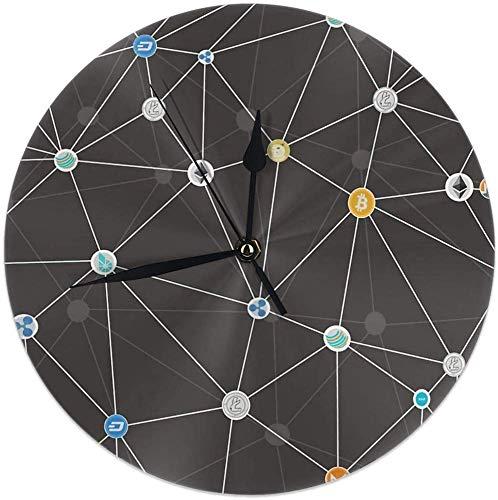 gardenia store - Reloj de Pared (9,84 Pulgadas)