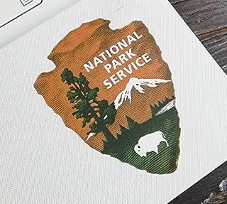 National Park Service pop Vinyl | 5 - Sizes Patch Laptop Bumper Sticker | National Park Service car Decal