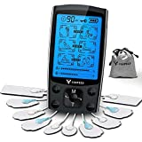 Dual Channel Tens EMS Unit Muscle Stimulator with 24 Modes, Continuous Mode/Memory Function Deep Tissue Shoulder Pain Relief Powerful Electronic Pulse Massager with 10 Pads …