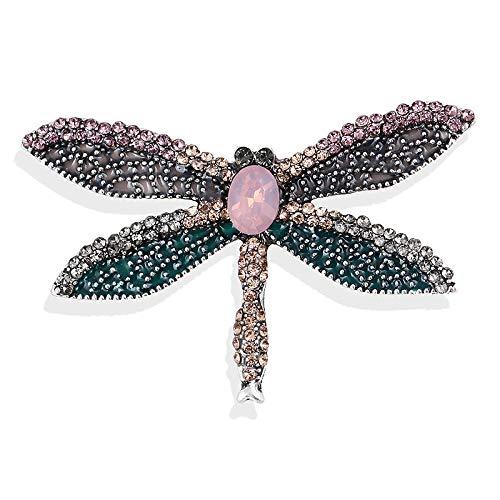 U/N Mode Strass Emaille Libelle Broschen für Frauen Insektenstifte Elegantes Brautkleid