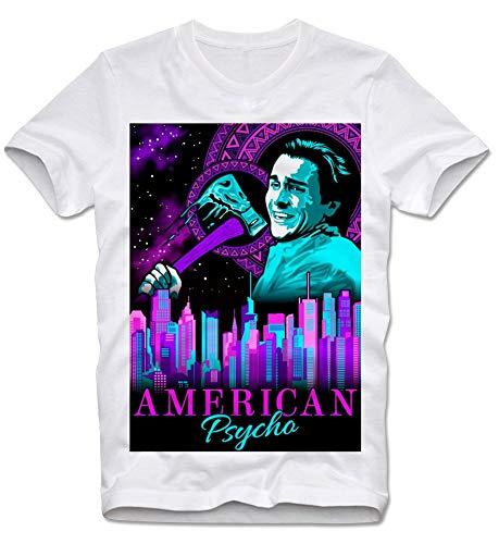 T Shirt American Psycho Christian Bale Videotapes Cult Serial Killer Bateman Axt Retro Vintage L