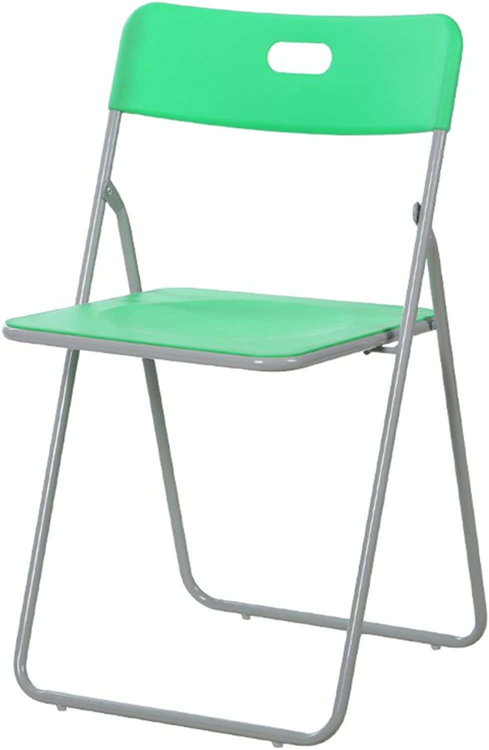 Plastic Folding Chair Home Portable Chair Simple Dining Chair Office Conference Chair Load-Bearing 150kg (pre-Sale Models) (color   Green)