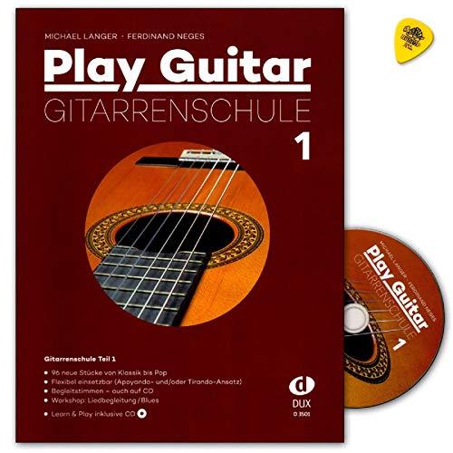 Play Guitar Gitarrenschule von Michael Langer, Ferdinand Neges - Band 1 mit Online Audio und Dunlop Plek - D3501 9783868492583 - OHNE CD !!!